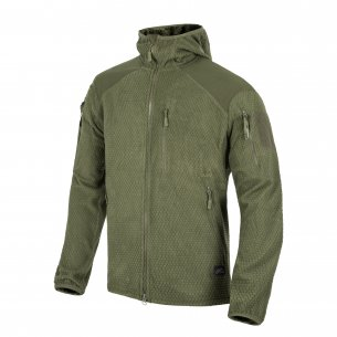 Helikon-Tex® Alpha Tactical Hoodie Jacket - Grid Fleece - Olive Green