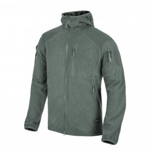 Helikon-Tex® Alpha Tactical Hoodie Jacket - Grid Fleece - Shadow Grey