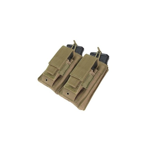 Condor® Ładownica molle Double Kangaroo Mag Pouch (MA51-003) - Coyote / Tan