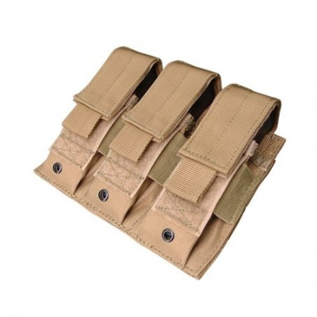 Condor® Ładownica molle Triple Pistol Mag Pouch (MA52-003) - Coyote / Tan