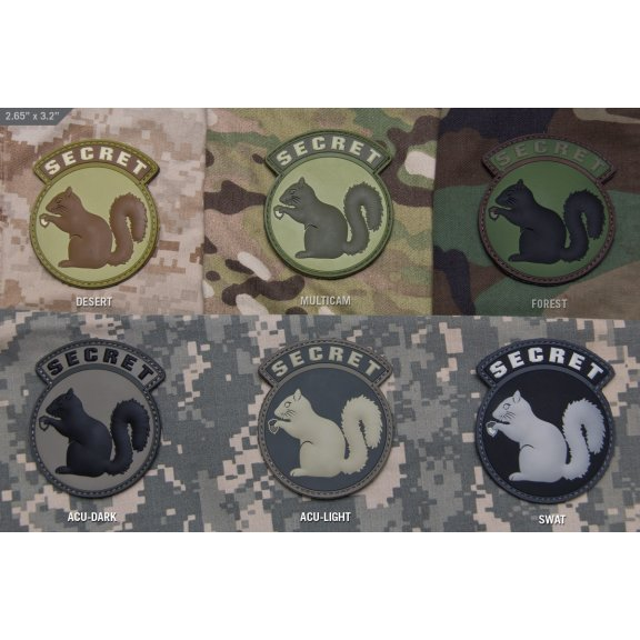 Mil-Spec Monkey Secret Squirrel velcro patch - PVC