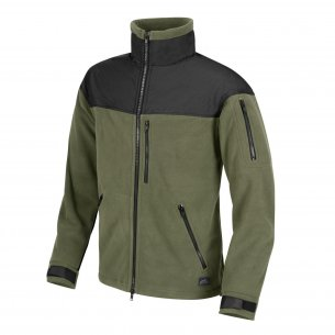 Helikon-Tex® Fleece jacket CLASSIC ARMY - Olive Green / Czarny