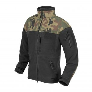 Helikon-Tex® INFANTRY fleece jacke - Schwarz / PL Woodland