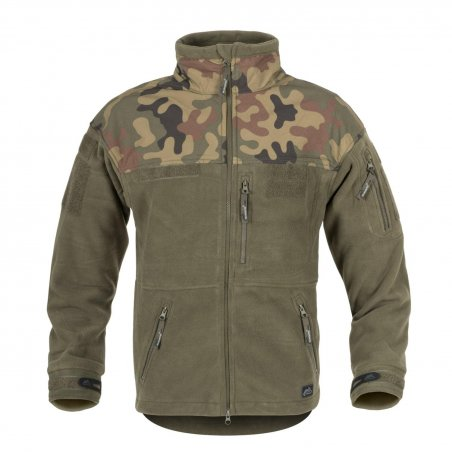 Helikon-Tex® INFANTRY Fleece Jacket - Black / PL Woodland