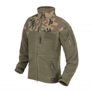 Helikon-Tex® INFANTRY Fleece Jacket - Olive Green / PL WoodlandOlive Green / PL Woodland
