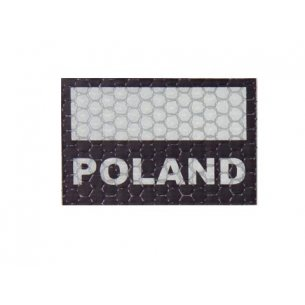 Combat-ID Velcro patch - Poland Flag Small (C3-BG) - Blue Grey
