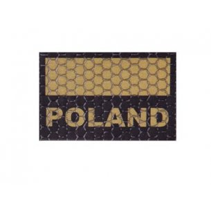 Combat-ID Velcro patch - Poland Flag Small (C3-CT) - Coyote / Tan