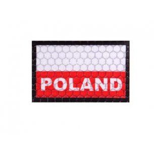 Velcro patch - Poland Flag Small (C3-FC) - White / Red