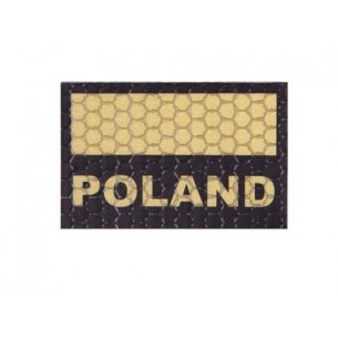 Combat-ID Velcro patch - Poland Flag Small (C3-TAN) - Desert
