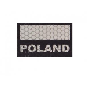 Velcro patch - Poland Flag Small (C3-GY) - Grey