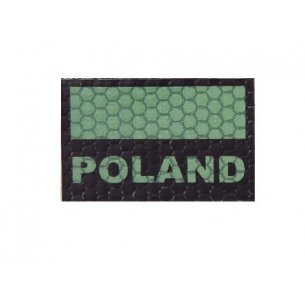 Combat-ID Velcro patch - Poland Flag Small (C3-GR) - Olive Green