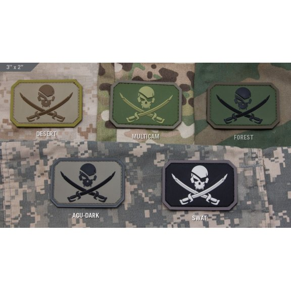 Mil-Spec Monkey Pirate Skull PVC velcro patch
