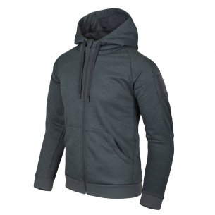 Helikon-Tex® Bluza URBAN TACTICAL HOODIE (FullZip)® - Melange Black-Grey