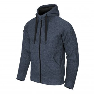 Helikon-Tex® Covert Tactical Hoodie (FullZip)® - Melange Blue