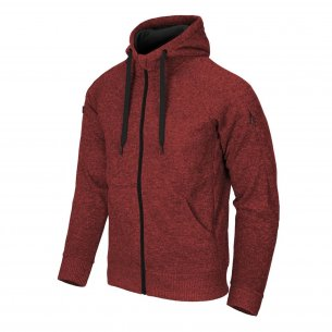 Helikon-Tex® Bluza Covert Tactical Hoodie (FullZip)® - Melange Red