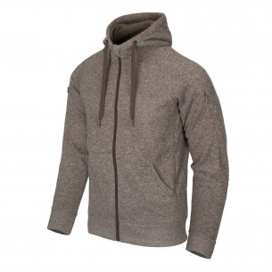 Helikon-Tex® Covert Tactical Hoodie (FullZip)® Jacke - Melange Light Tan
