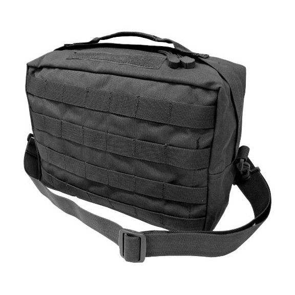 Utility Shoulder Bag (137-002) - Black