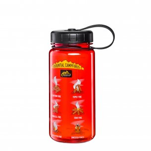 Helikon-Tex Butelka TRITAN™ BOTTLE Wide Mouth Campfires (550 ml) - Czerwony/Czarny