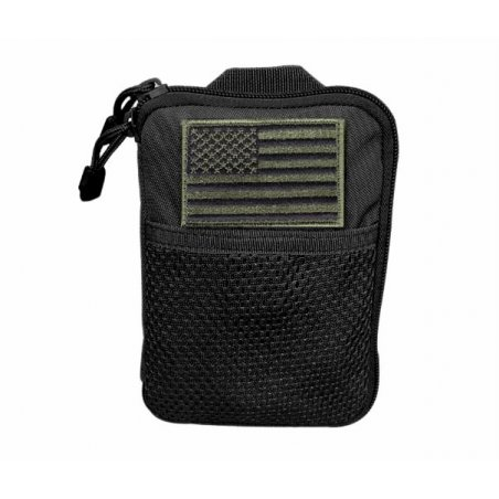 Kieszeń molle Pocket Pouch with US Flag (MA16-002) - Czarna