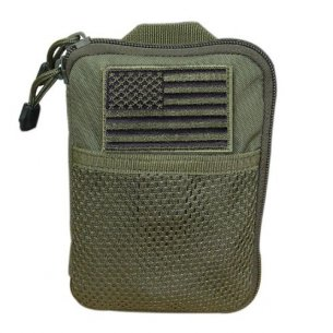 Condor® Pocket Pouch with US Flag Patch (MA16-001) - Olive Green