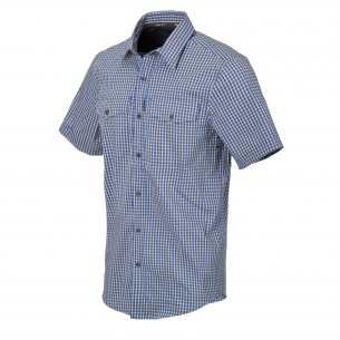 Helikon-Tex Covert Concealed Carry Short Sleeve Hemd - Royal Blue Checkered