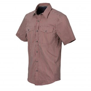 Helikon-Tex Koszula Covert Concealed Carry Short Sleeve - Dirt Red Checkered