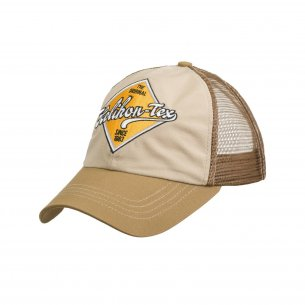 Helikon-Tex® Trucker Logo Cap - Cotton Ripstop - Khaki / Brown B
