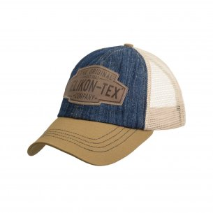 Helikon-Tex® Trucker Logo Kappe - Denim - Dark Blue / Khaki C