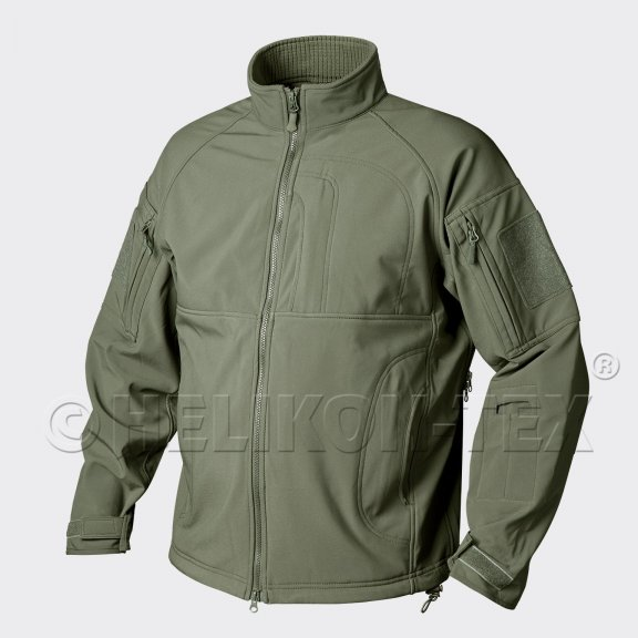 COMMANDER Jacke - Shark Skin - Olive Green