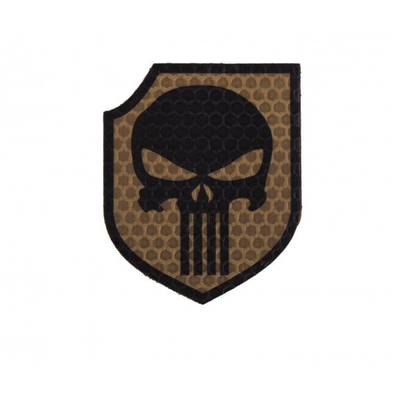 Combat-ID Velcro patch - Punisher Shield (TP-CT) - Coyote / Tan