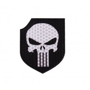 Combat-ID Velcro patch - Punisher Shield (TP-BLK) - Black - White
