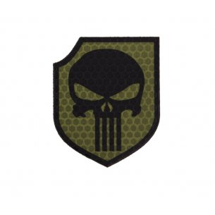 Combat-ID Velcro patch - Punisher Shield (TP-OD) - Olive Drab