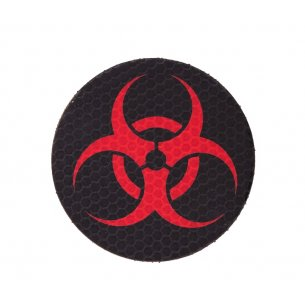 Combat-ID Velcro patch - Biohazard Circle (BIO-CIR-BLK/RED) - Black / Red