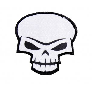 Combat-ID Velcro patch - Skull Large (SK-WH) - White