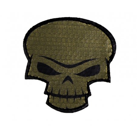 Combat-ID Velcro patch - Skull Large (SK-OD) - Olive Drab