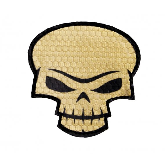 Combat-ID Velcro patch - Skull Large (SK-TAN) - Desert