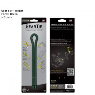 Nite Ize® Gear Tie  18 (GT18-2PK-28) - 2 Units - Forest Green