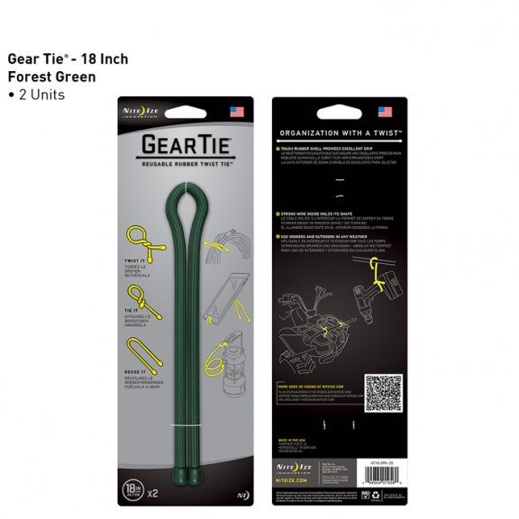 Gear Tie  18 (GT18-2PK-28) - 2 Sztuki - Forest Green