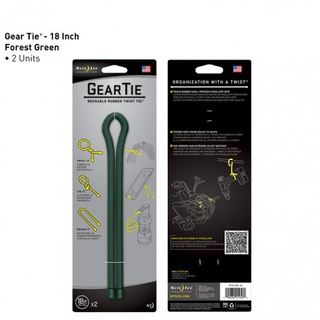 Gear Tie  18 (GT18-2PK-28) - 2 Units - Forest Green