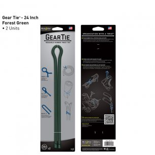 Gear Tie  24 (GT24-2PK-28) - 2 Sztuki - Forest Green