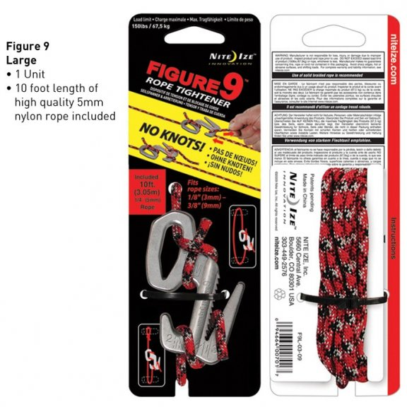 Nite Ize® Figure 9 Large (F9L-03-09) - Aluminum - with Rope