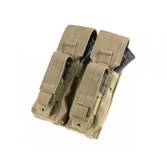 Ładownica molle Double AK Kangaroo Mag Pouch (MA71-003) - Coyote / Tan