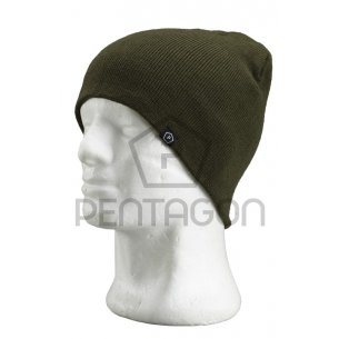 Knitted Wool Watch Cap - Olive Green