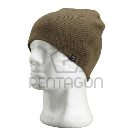Knitted Wool Watch Cap - Coyote / Tan