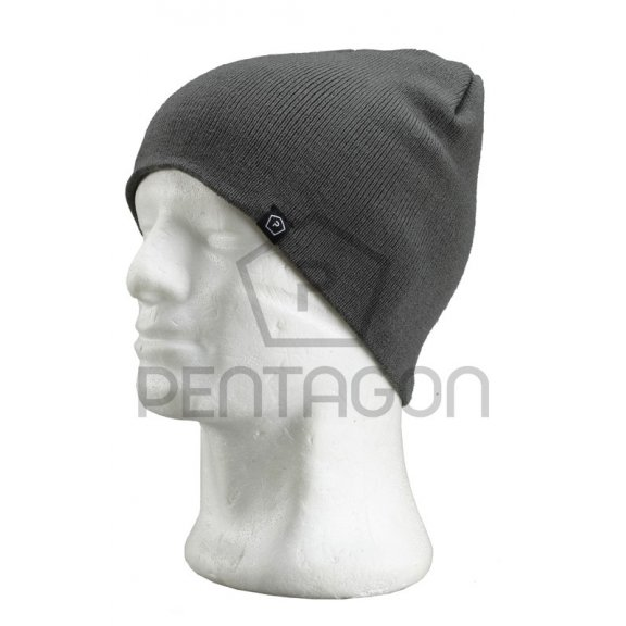 Knitted Wool Watch Cap - Gray