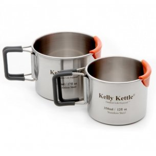 Kelly Kettle® Camping Cup set - Stainless Steel - 350 & 500ml