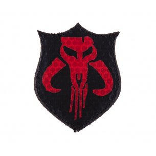Combat-ID Velcro patch - FET (FET) - Black and Red