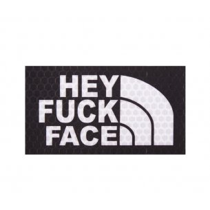 Combat-ID Velcro patch -Hey Fuck Face - Black (HFF-BLK)