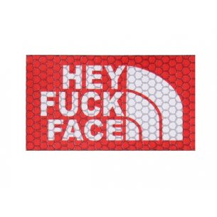 Velcro patch -Hey Fuck Face - Red (HFF-RED)