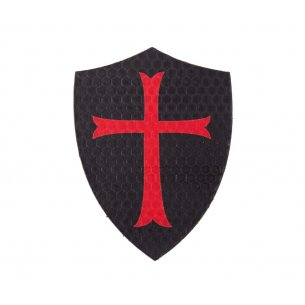 Combat-ID Velcro patch - Shield Crusader - Black (TK-BLK)